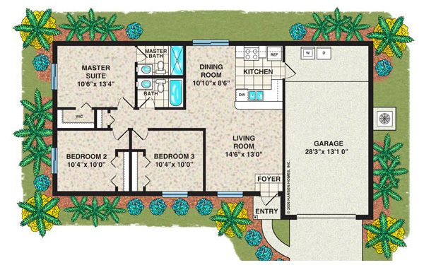 Beautiful House Plans For 2 Bedroom 2 Bath   Google Search Part 12