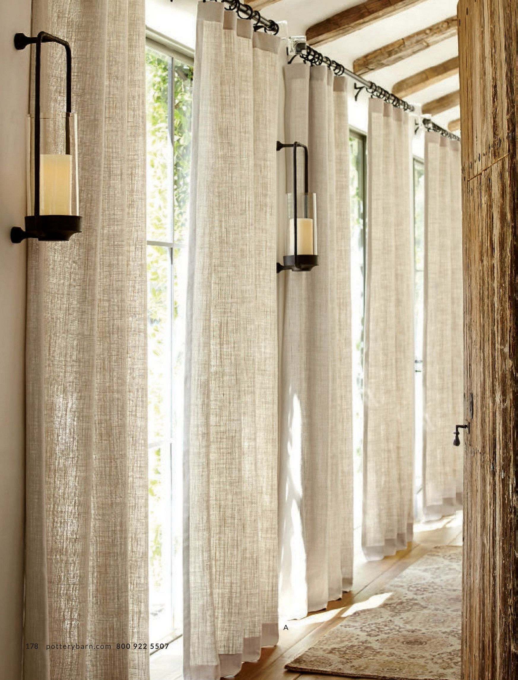 Belgian Linen Curtain Made With Libeco Linen Natural A 178 P O