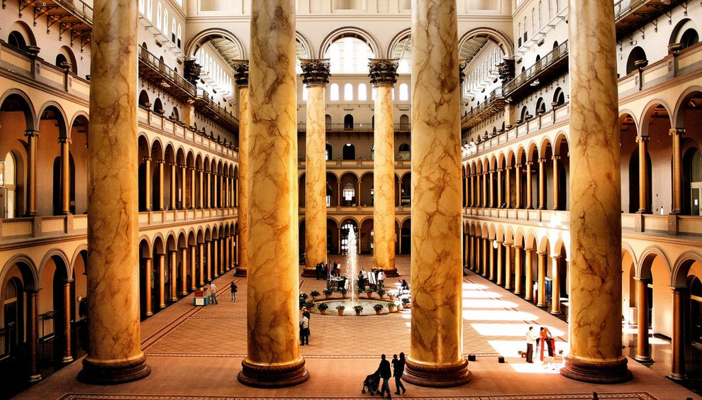 14 Architectural Photos That Will Make You Look At Buildings Differently National Building Museum Building Museum Beautiful Places