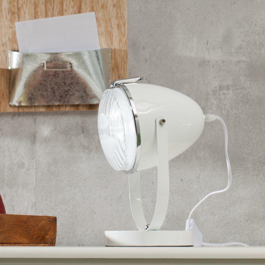 LampeScheinwerfer white 30cm, 30 cm Tischlampen, Lampen