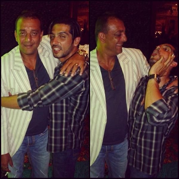 #Zayed Khan with #Sanjay Dutt Party Time #Bollywood ...