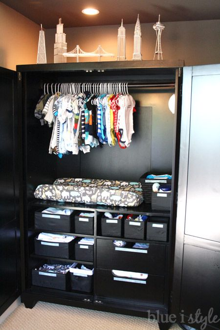 This Master Bedroom Armoire Was Used As A Baby Station When Newborns Were  Sleeping In Mom
