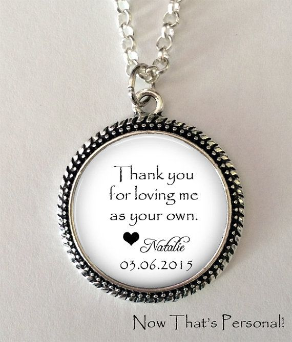 Step Mom Jewelry-Step Parent Mother in Law Gift Thank You For Loving Me As Your Own Necklace -Dancing girl  Necklace Step Mom Gift