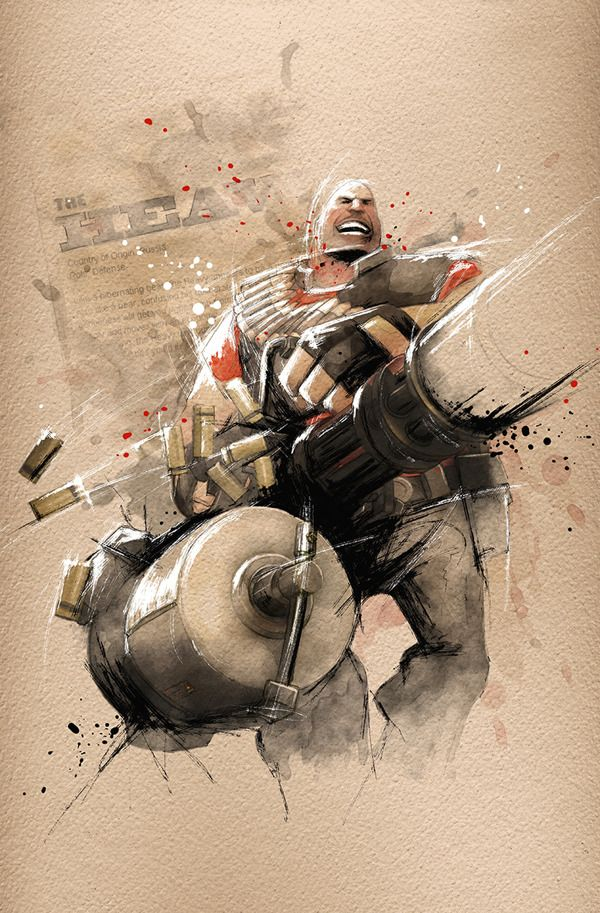 Team Fortress 2 Illustrations - Created by Ampoo Studio