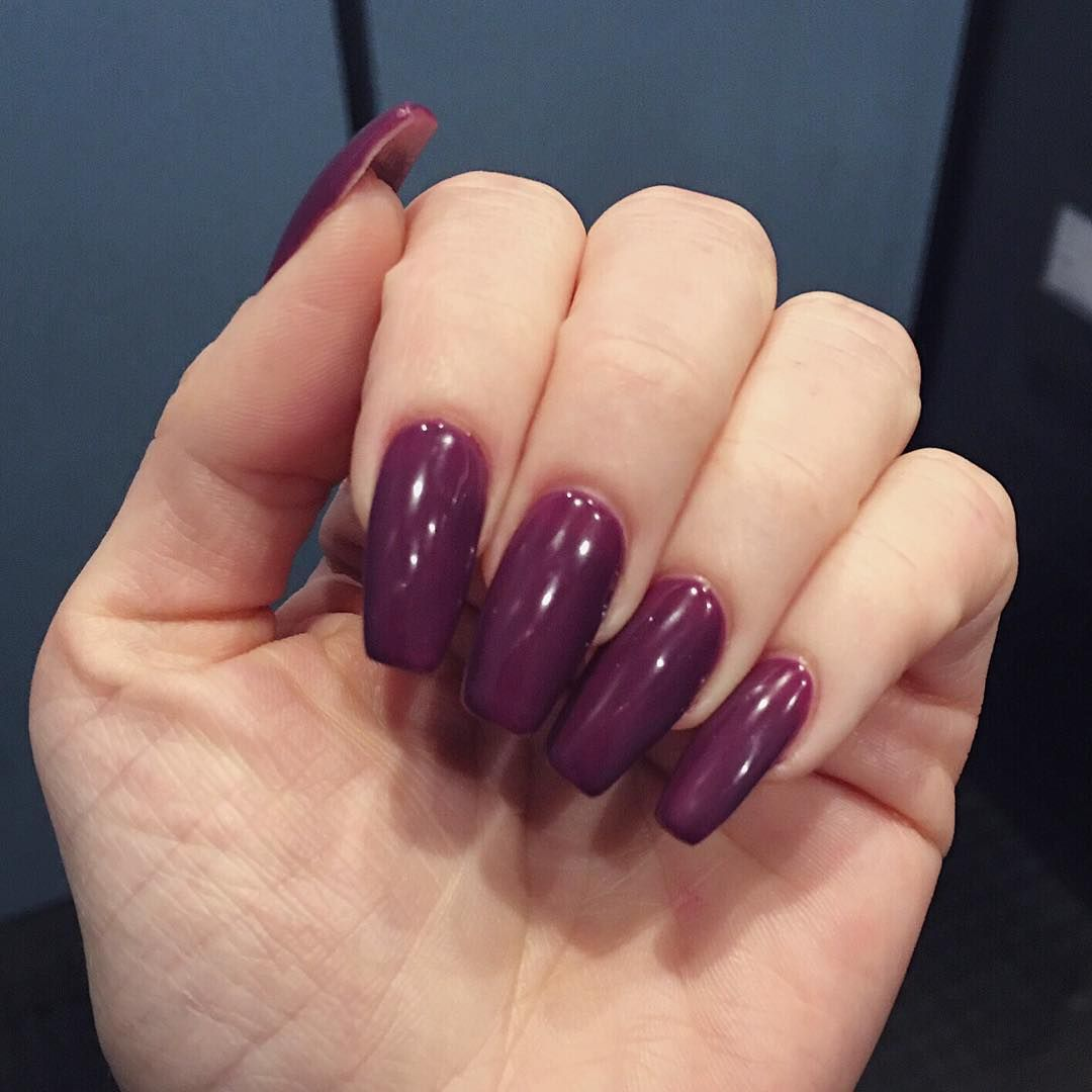 It\'s official DND has the coolest plum tone gels. This one is 455 ...