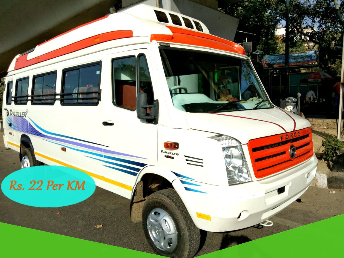 21 seater tempo traveller hire online full ac and luxury