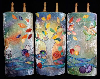 Torah covers for Temple Sinai, Stamford