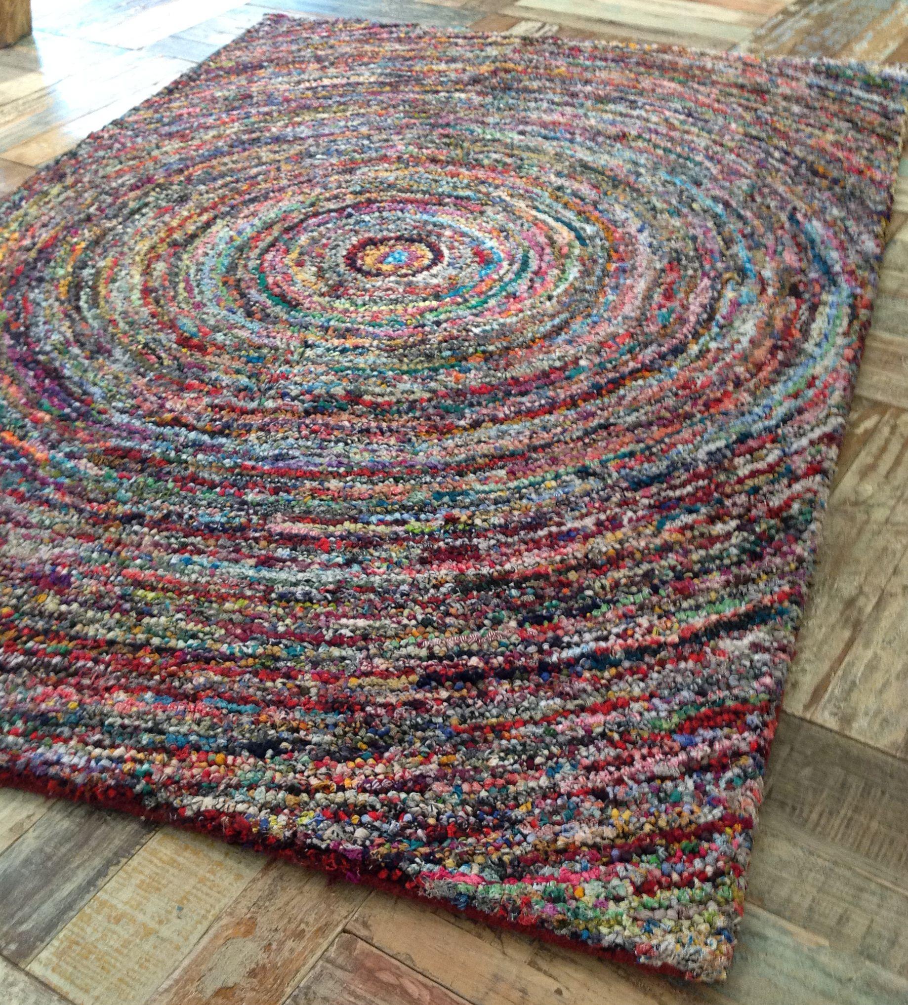 Stunning Fair Trade Indian Thick Slub Weave Multi Coloured Rag Rug 90cm X 150cm Ebay Rugs Pinterest And