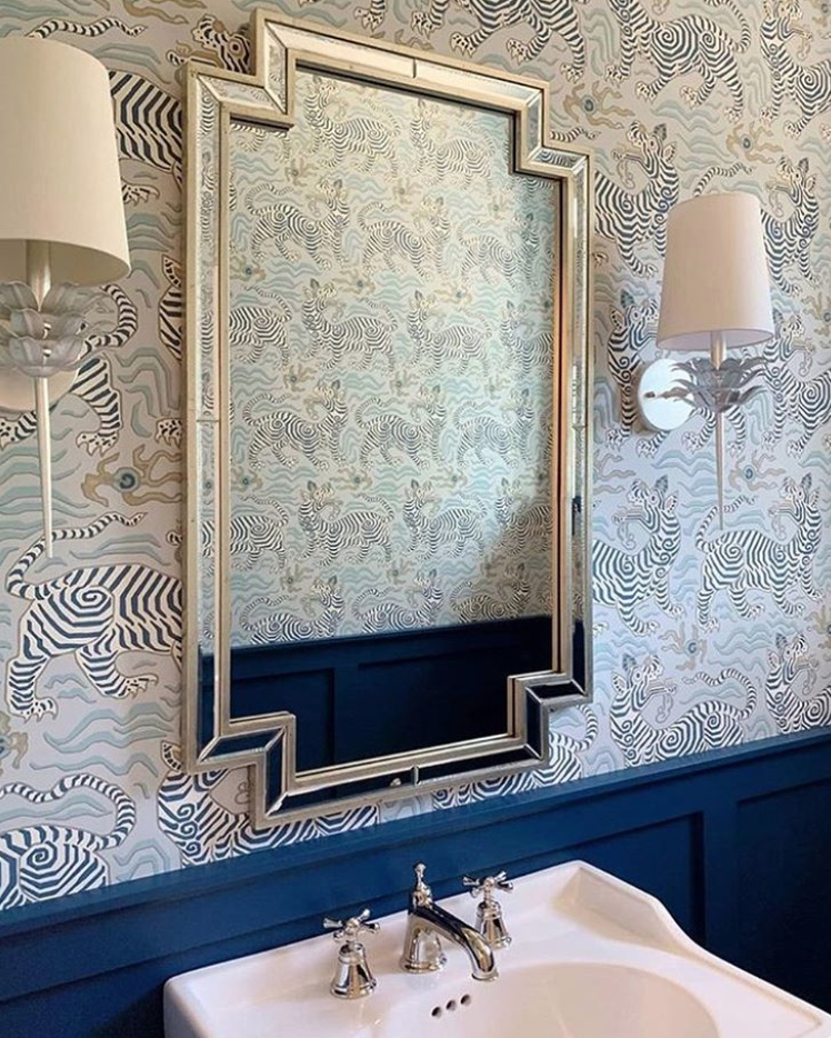 Our kind of Monday blues. Pictured are our Delilah sconces ...