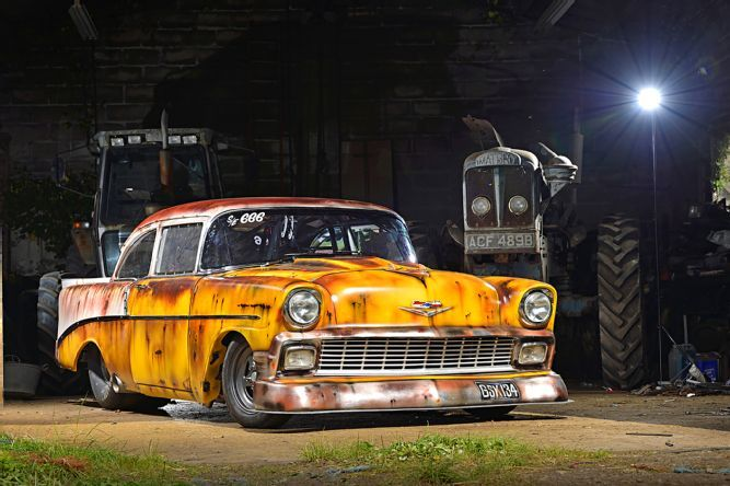 Andy Bond One Ups America In The Faux Patina Chevy Scene With This Amazing 1956 Barn FindsChevyDrag