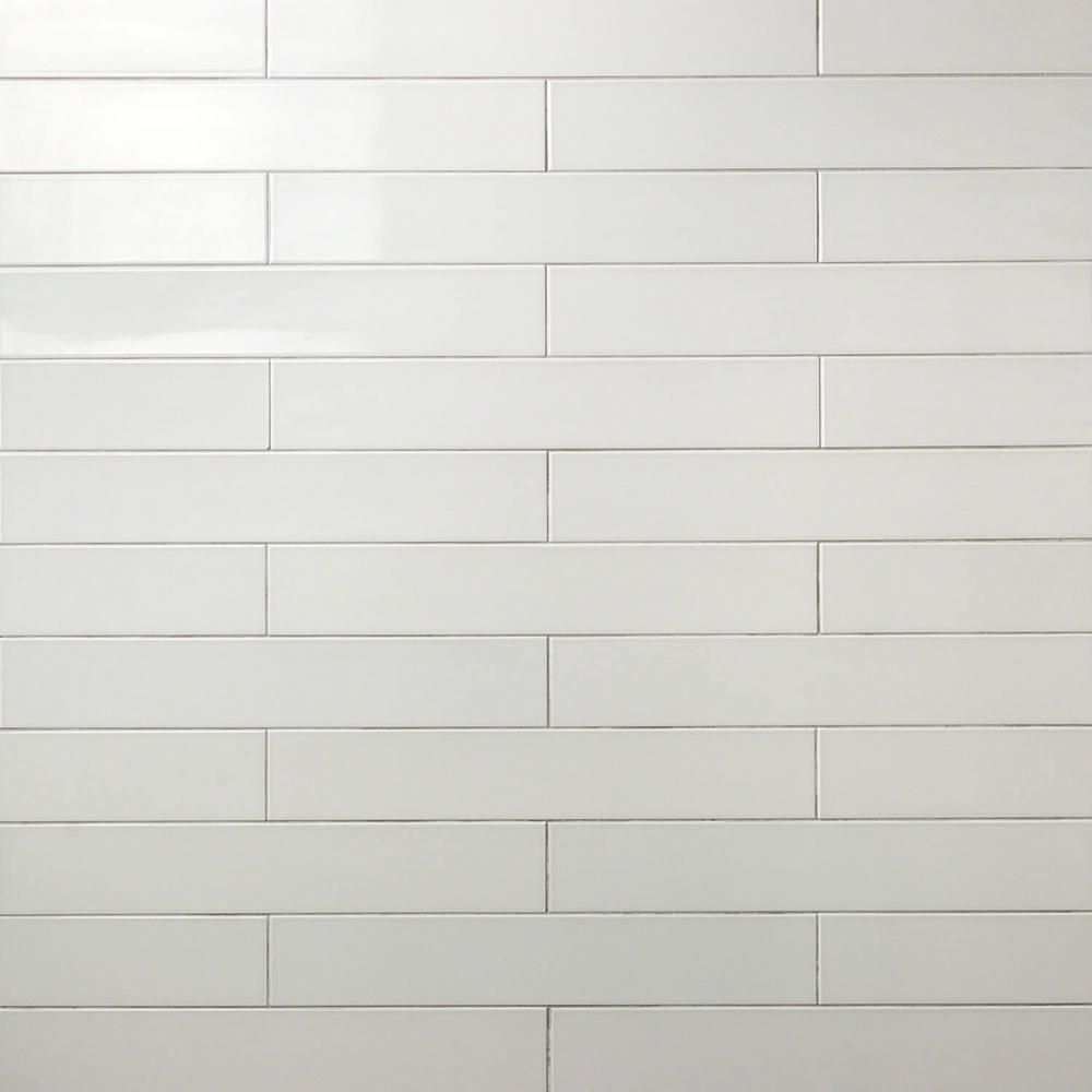 Ivy Hill Tile Zekke Gray 4 In X 24 In X 10mm Polished Porcelain Subway Wall Tile 15 Pieces 9 68 Sq Ft Box Ext3rd100967 The Home Depot Affordable Tile Porcelain Tile Wall Tiles