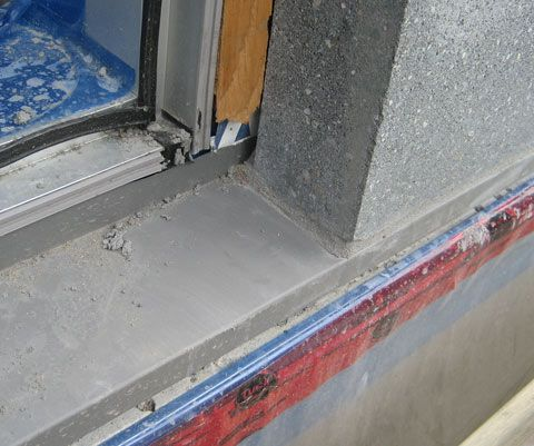 Pin By Jenn Vu On Window Structure Concrete Blocks Concrete Wall Window Sill