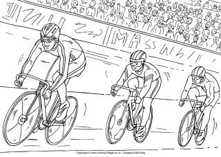 Cycling Competitive Cycling Coloring Pages Cycling Race