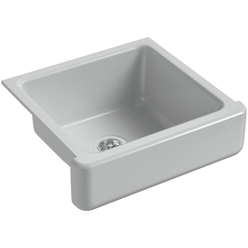 Kohler K 5664 Whitehaven 23 1 2 Undermount Single Basin Cast Iron Kitchen Sink Ice Grey Fixture Kitchen Sink Cast Iron In 2020 Single Bowl Sink Single Bowl Kitchen Sink Kohler Whitehaven