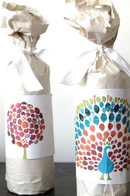 wrapping thanksgiving craft hostess gift