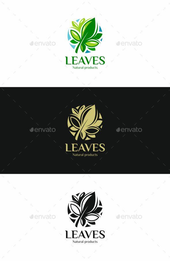 Leaves Logo | Leaf logo, Logo templates and Nature logos