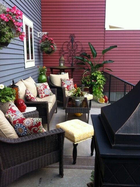Conversation Area Summer Decorating Patio Patio Decor Deck Decorating