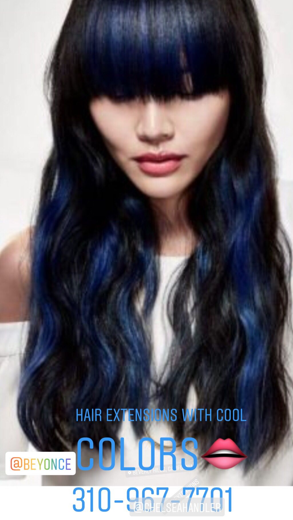 Hair Extensions with colors are so beautiful if you live
