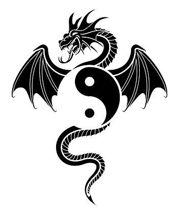 Dragon Tattoo with ying yang symbol | tattoo art | Pinterest ...