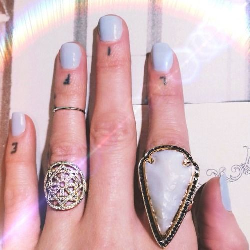 Perfectly stacked statement rings.
