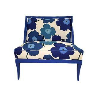 Best Vintage Marimekko Blue Floral Print Chair Patterned 400 x 300
