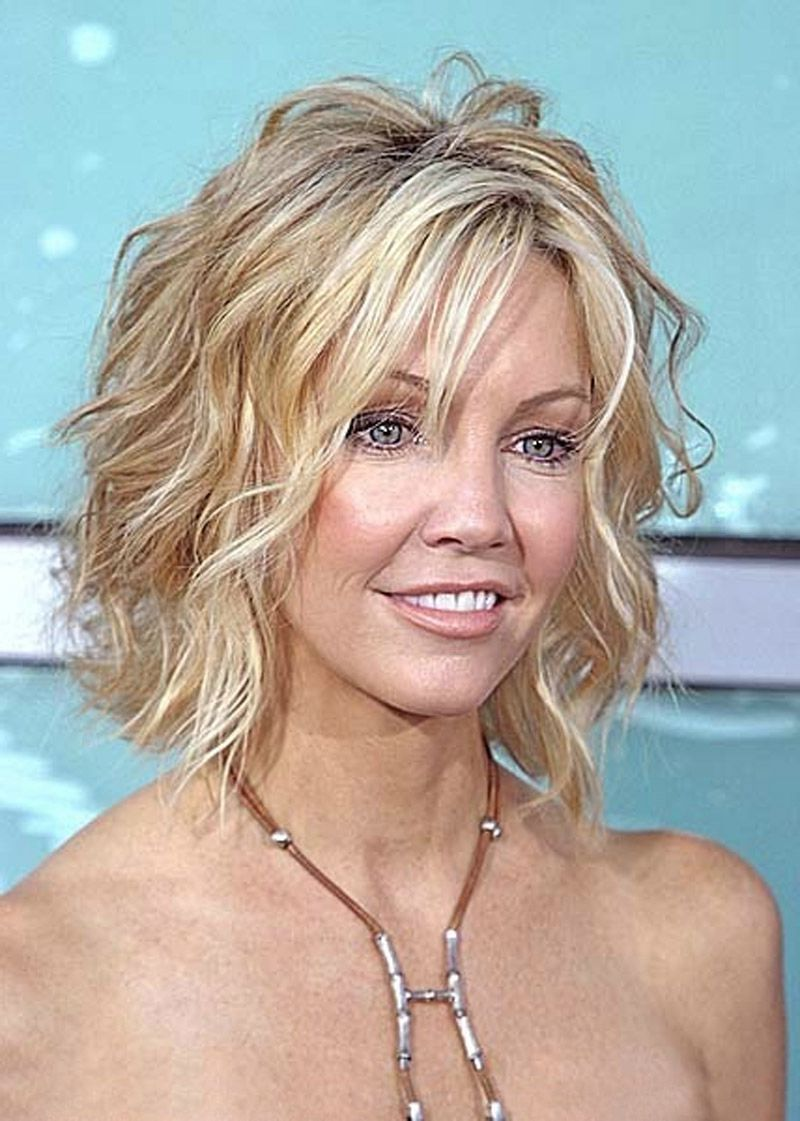 Medium Hairstyles For Thin Wavy Hair Short Shaggy Bob