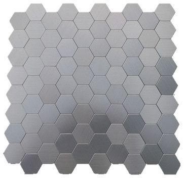 Honeycomb Pattern Aluminum Mosaic Tile Silver 1 Carton 22 Sheets Contemporary Gl Stone Ltd