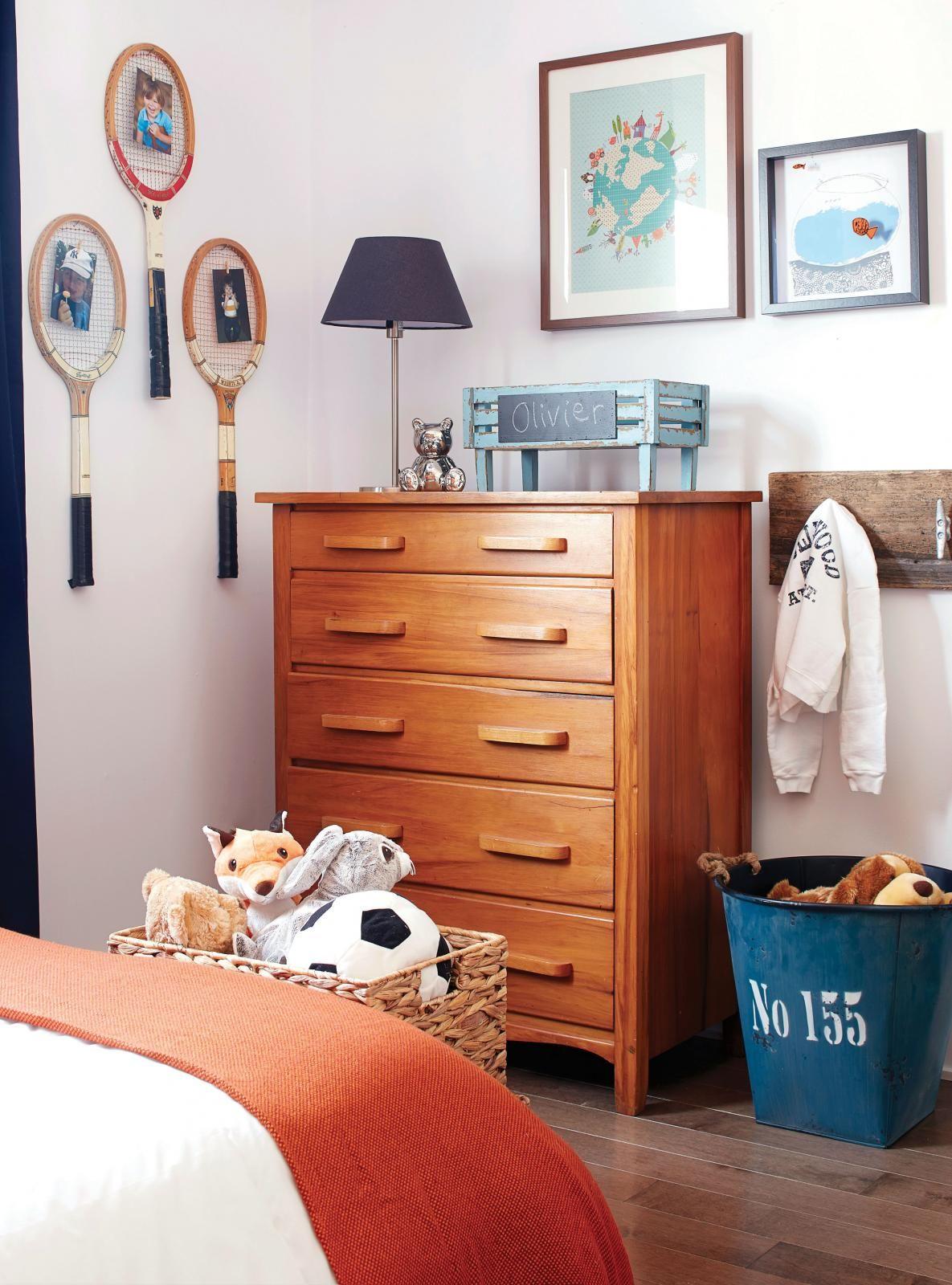 Déco week-end: Chambre à rayures! | Les idées de ma maison © TVA Publications | Photo: Yves Lefebvre #deco #chambre #enfant #couleurs #peinture #bois #accessoires #cadre