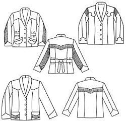 #242 Rodeo Cowgirl Jacket Misses' Extra Small to 2X Large
