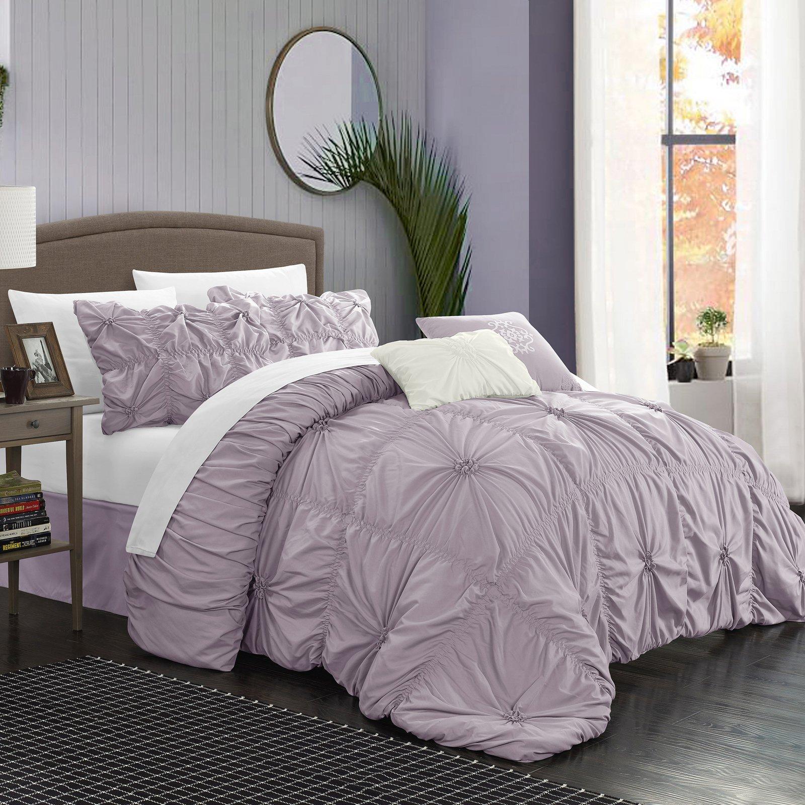Hyatt Comforter Set By Chic Home Lavender Comforter Sets Queen