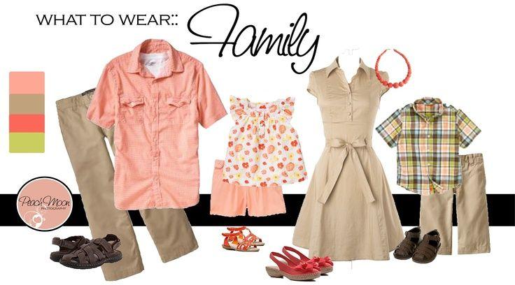 что одеть на семейную фотосессию | Одежда для семейного ...