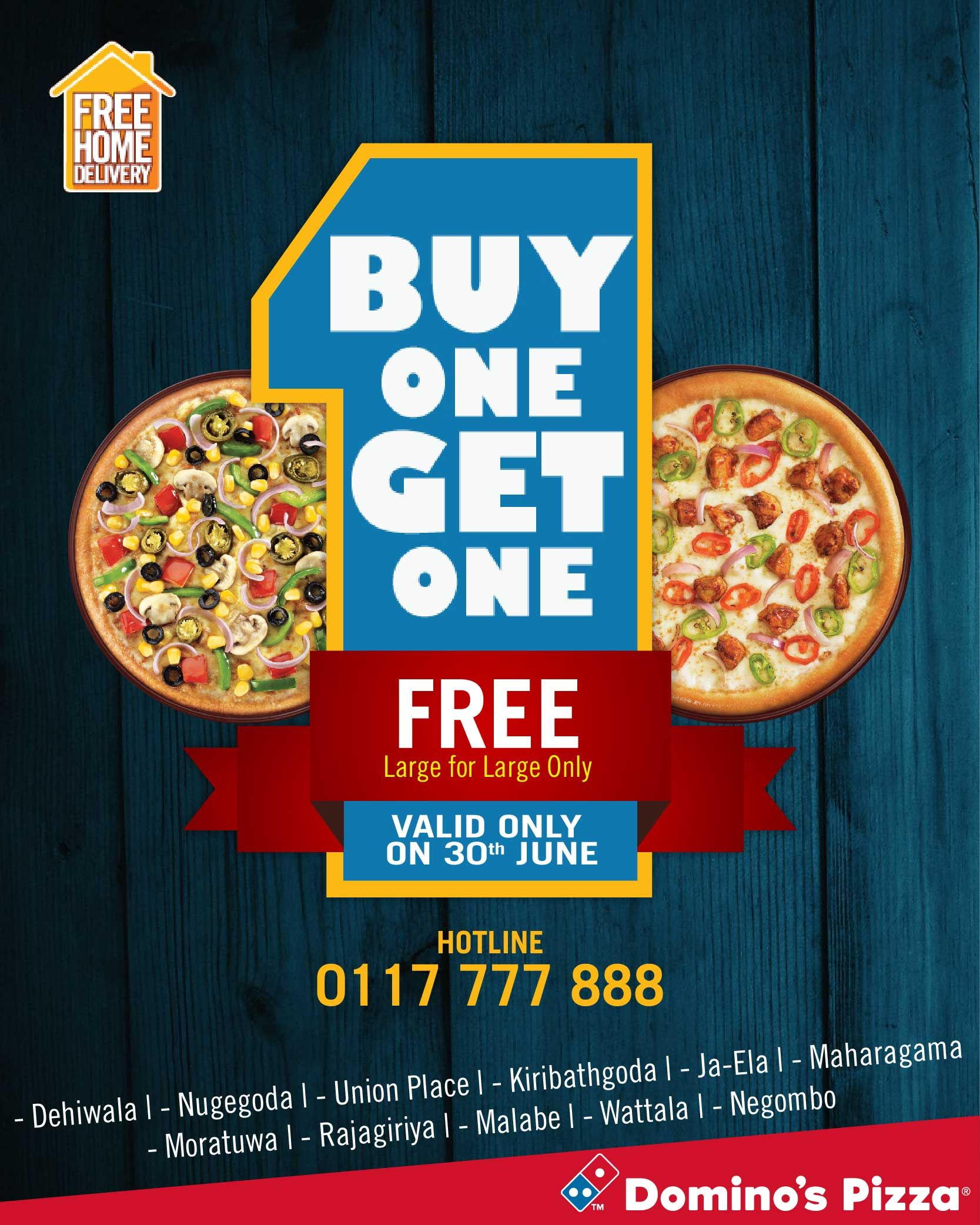 Domino's Pizza buy one get one offer is back   Pizza, Get ...