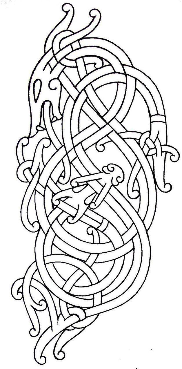 viking art tattoo flash by darksuntattoo on deviantart dragon pinterest viking art tattoo. Black Bedroom Furniture Sets. Home Design Ideas