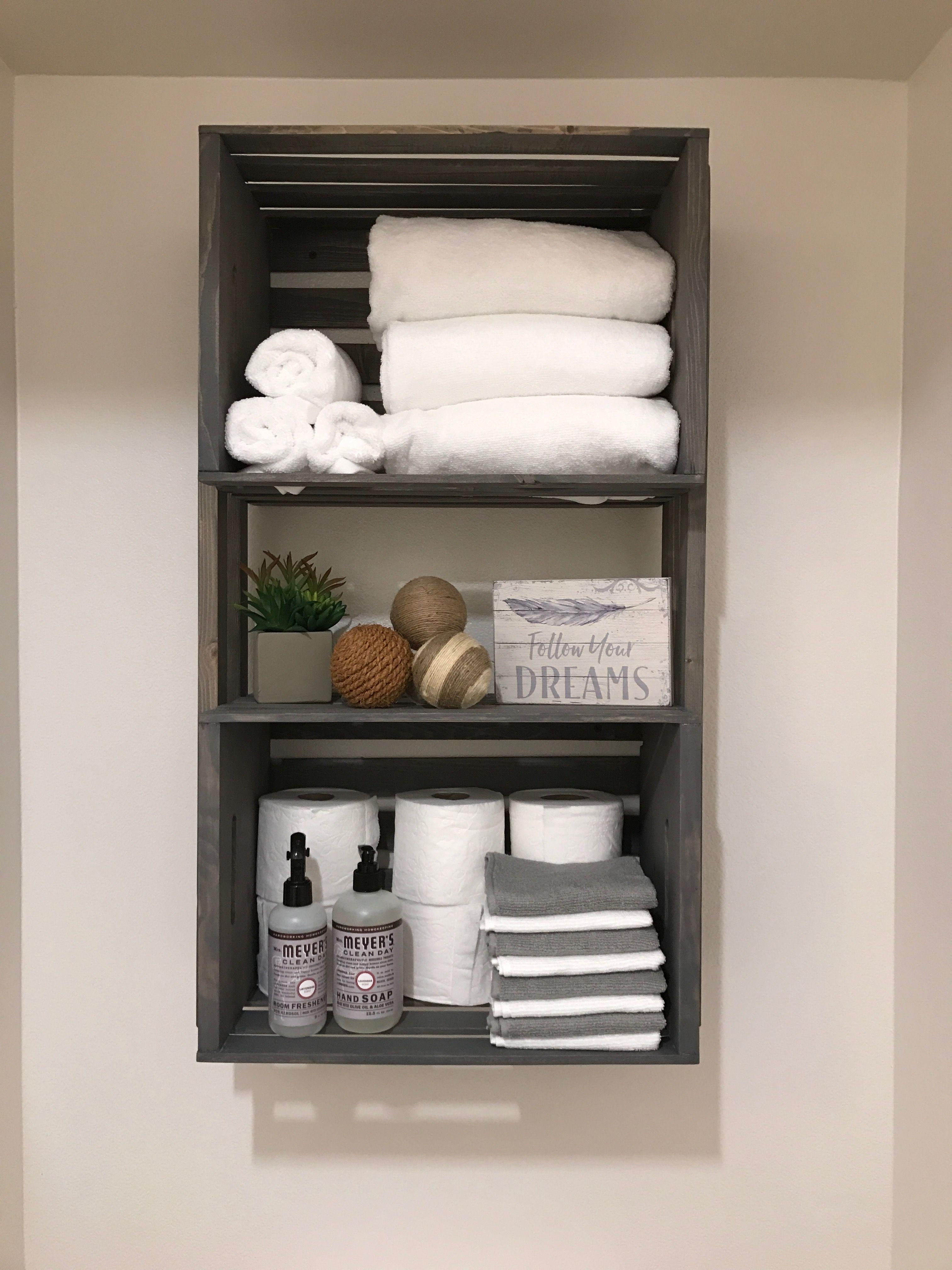 Love my storage above the toilet Home decor Pinterest