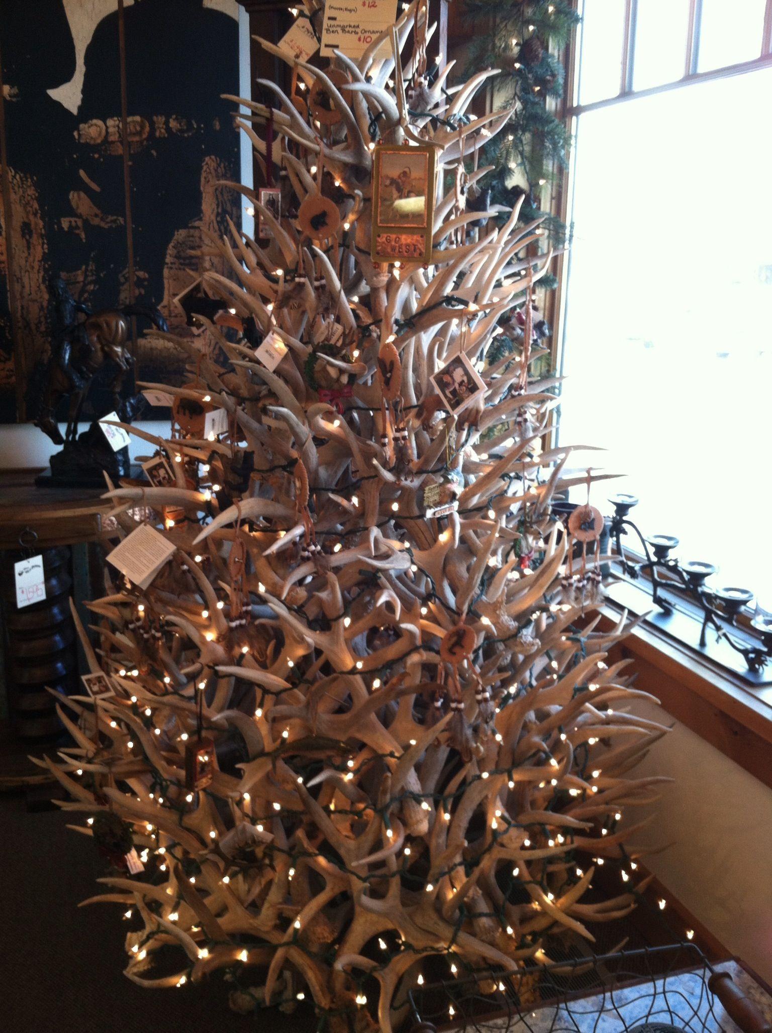 Antler Xmas tree decor Pinterest