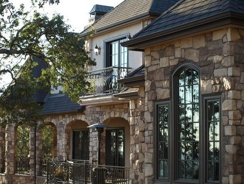 French stucco outside finishes on homes french country for Mediterranean stone houses