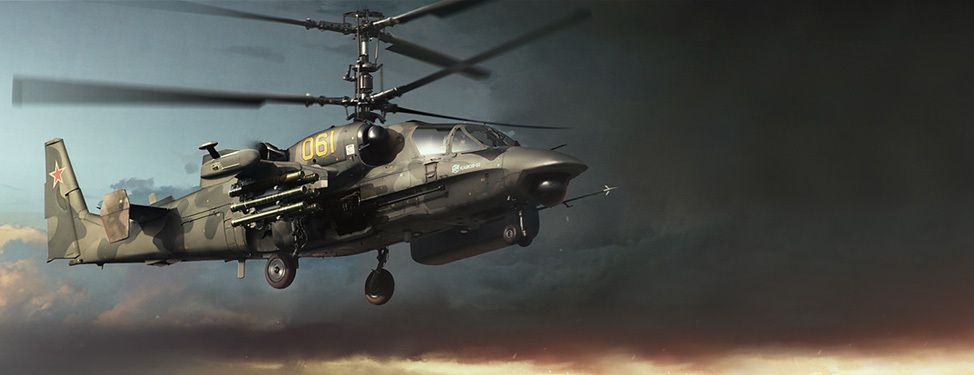 kamaov ka 52 combat helicopter from russia