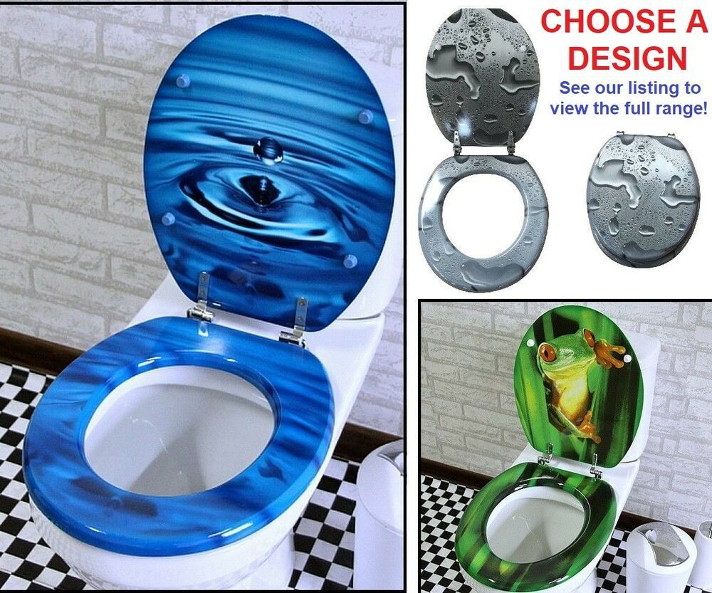 Terrific Modern Colourful Bathroom Toilet Seat Cover Lid Metal Hinge Machost Co Dining Chair Design Ideas Machostcouk