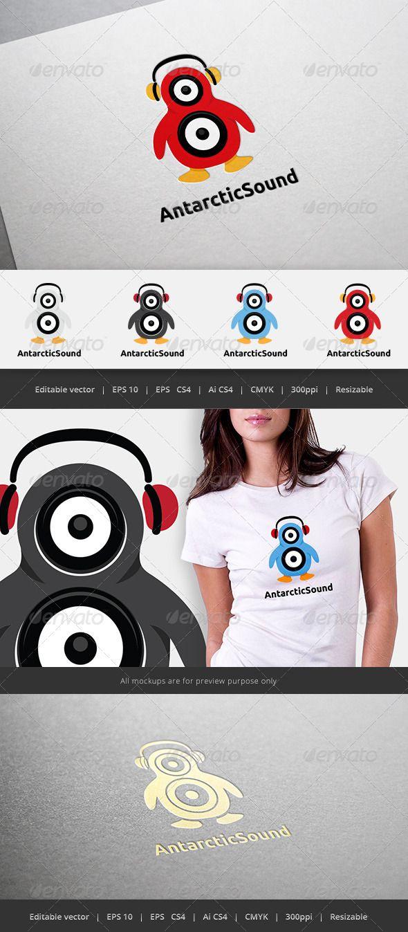 Antarctic Sound Logo #GraphicRiver Files format : EPS10, EPS CS4, AI