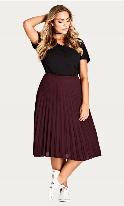 Sheer Pleat Skirt