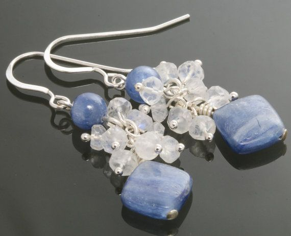 CLEARANCE Kyanite Sterling Silver Earrings with by lavajewelry, $20.00