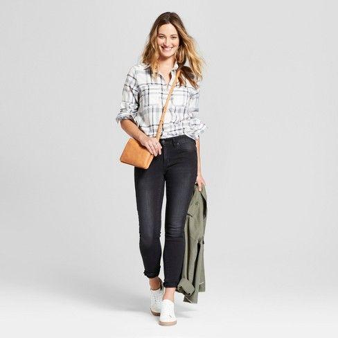 15a72415 Women's Long Sleeve Plaid Shirt - Universal Thread : Target | Stitch ...