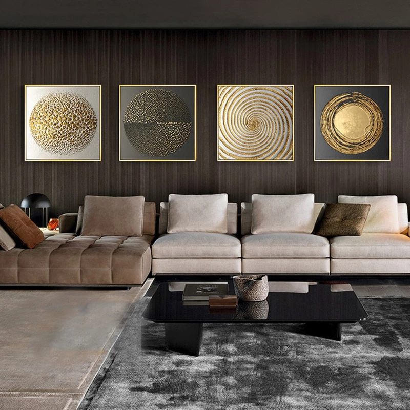 Luxury Nordic Golden Black Abstract Stylish Modern Wall Art Fine Art Canvas Prints Nordicwallar Living Room Pictures Abstract Canvas Painting Modern Wall Art