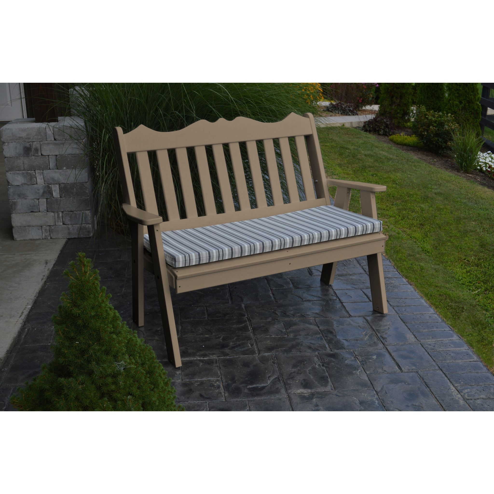 A&L Furniture pany Recycled Plastic 4 Royal English Garden Bench