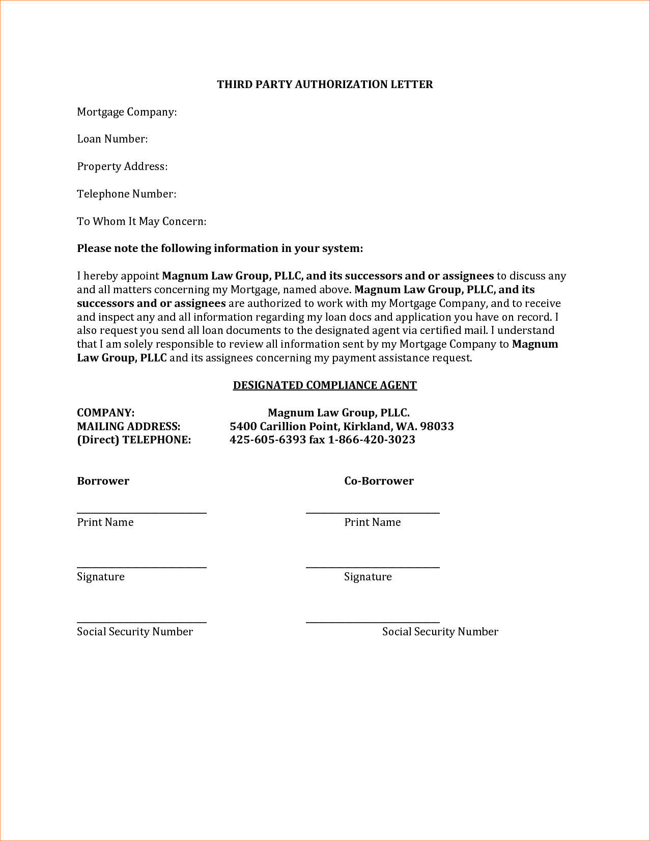 authorization letter for bank account statement free and direct