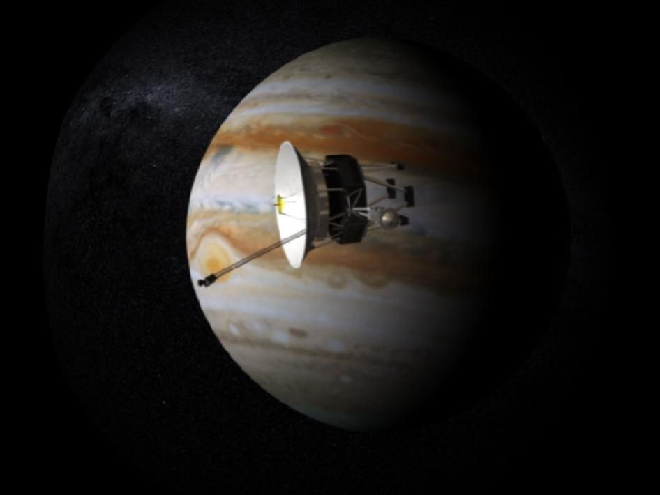 The Voyager 1 and Voyager 2 probes both flew past Jupiter