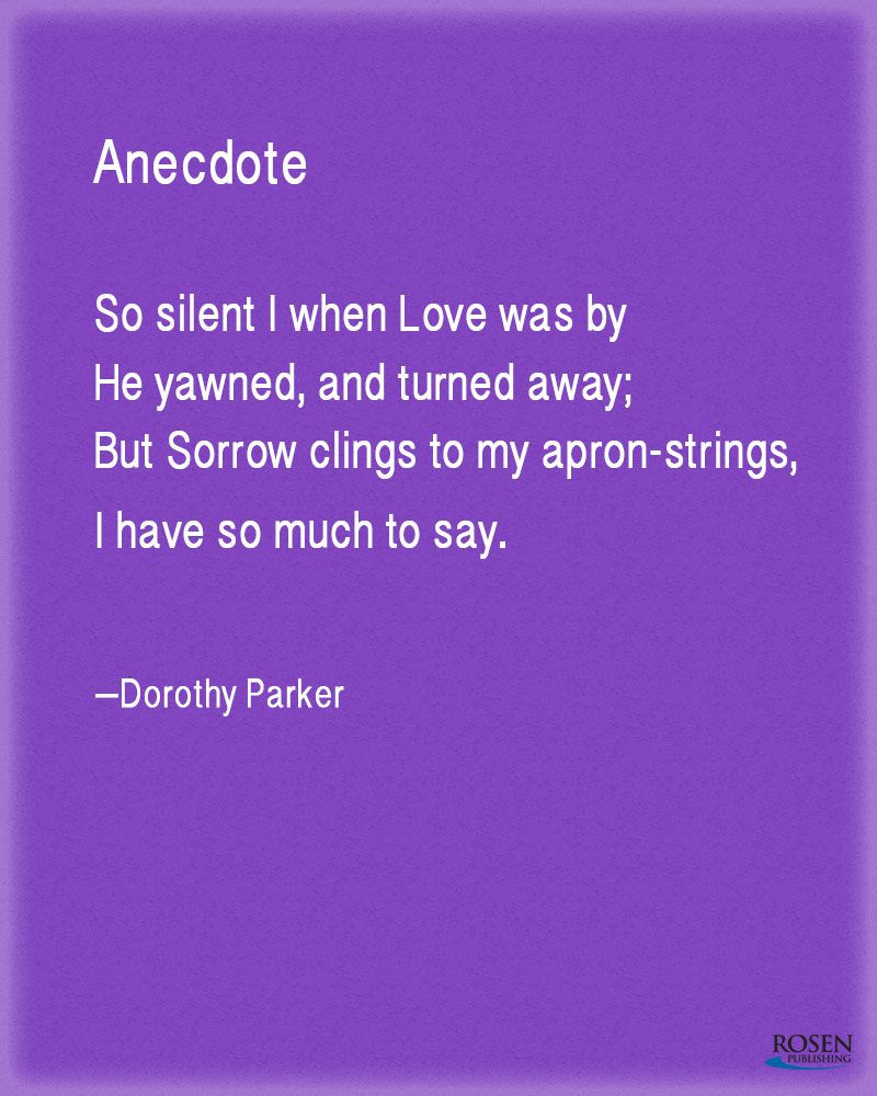 A beautiful love poem from Dorothy Parker. | Our Favorite Poems ...