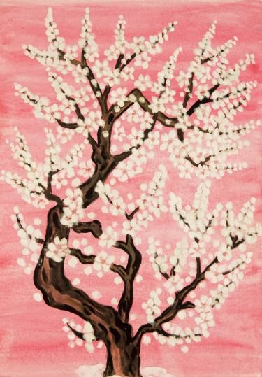 "Saatchi Art Artist Irina Afonskaya; Painting, ""Tree on pink"" #art"