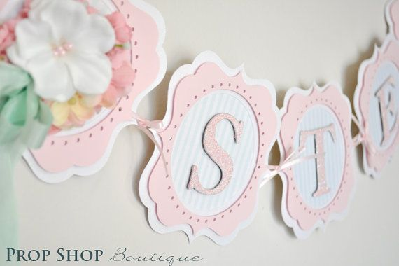 birthday banner baby shower name banner nursery decor photo prop