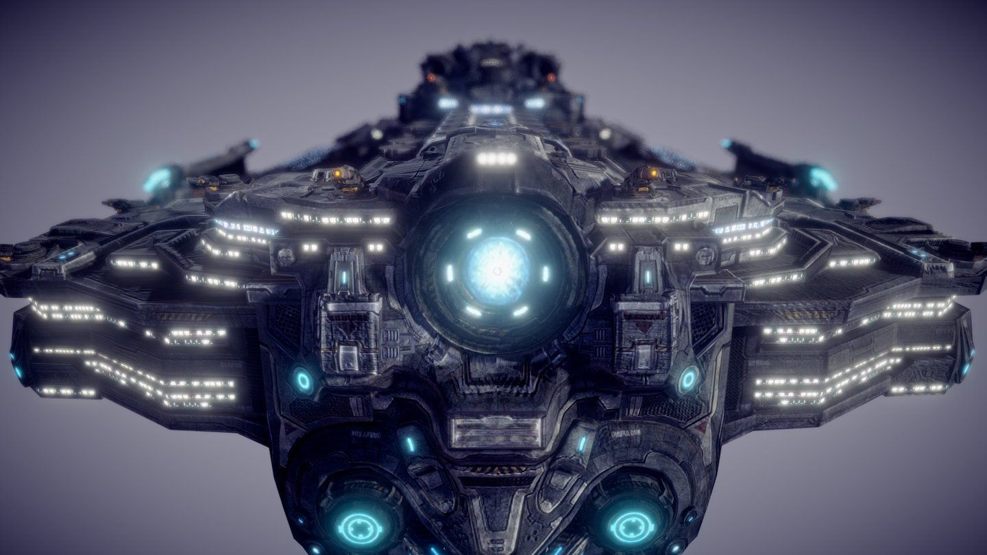 Sick 3D Model of the Hyperion! Move the camera around and zoom in to see the details! #games #Starcraft #Starcraft2 #SC2 #gamingnews #blizzard